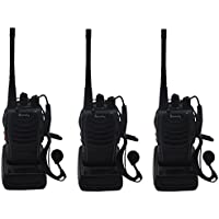 Blomiky H-777 Two Way Radio UHF 400-470MHz 3W 16CH CTCSS/DCS Walkie Talkies H777 (3 Pack)