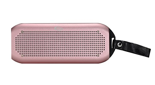 GRANDEY NFC Wireless Bluetooth Waterproof 2x5W Speaker(IPx7), Fully submersible & Aluminium alloy portable Design Compatible with all Cell Phone & Bluetooth Devices with Built-in Mic (Rose golden)