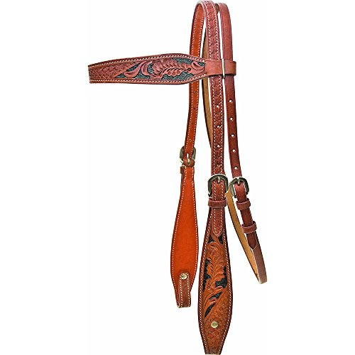 ABETTA Western Headstall Floral and Basket Weave Tooling