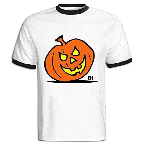 Jack-o'-Lantern: Halloween Citrouille Hit Color T Shirt for Men -