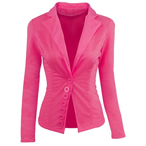 UONQD Women Coat Casual Slim Suit Blazer Top Ladies Jacket Outwear Tops (Small,Hot (Firefighter Tan Suit)