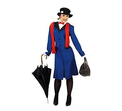 Mary Poppins Disfraz de Niñera Victoriana para Mujer: Amazon ...