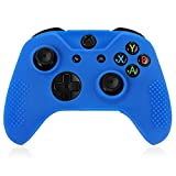 TNP XBox One / XBox One S / XBox Elite Controller Case (Blue) - Soft Silicone Gel Rubber Grip Case Protective Cover Skin for XBox One S / XBox Elite Wireless Game Gaming Gamepad Controllers