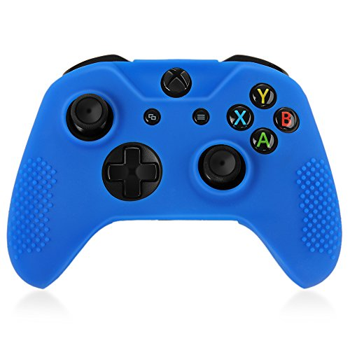 TNP XBox One / XBox One S / XBox Elite Controller Case (Blue) - Soft Silicone Gel Rubber Grip Case Protective Cover Skin for XBox One S / XBox Elite Wireless Game Gaming Gamepad Controllers (Blu Electronic Starter Kit compare prices)