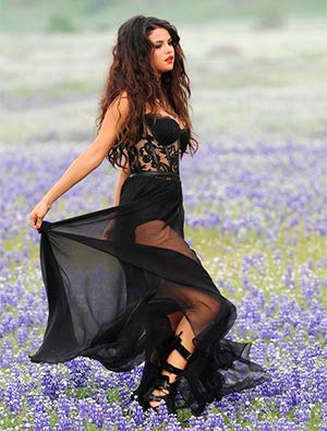 Iconic Image of Selena Gomez in Flowers (8.5