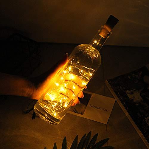 LED cadena de luz Luz 20 LEDs 2 M alambre de cobre botellas vino botella luces con tapón de corcho alambre de cobre Luz nocturna boda fiesta decoración ...
