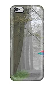 Durable People In Park Forest High Trees Brown Green Umbrella Leafs Nature Other Back Case/cover For iphone 6 plus