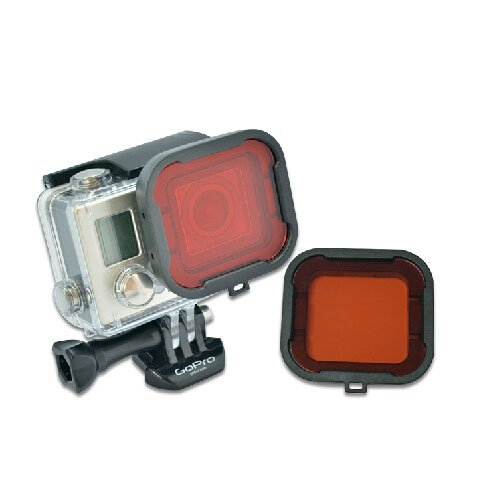 Snap-on Diving Filter Housing for GoPro Hero 4 / 3+ (Red) - 3
