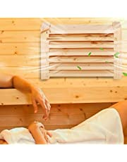 Smooth Surface Without Burrs Sauna Ventilation Panel Durable Wood Exquisite Workmanship Safe and Reliable for Steam Room 100% Brand New