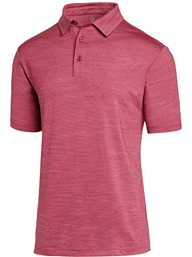 Jolt Gear Golf Shirts for Men - Dry Fit Short-Sleeve Polo, Athletic Casual Collared T-Shirt Magenta