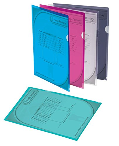 Quick View Poly Jackets - Office Depot Poly Project View Folders, Letter Size, Assorted Colors, Pack Of 10, 741361