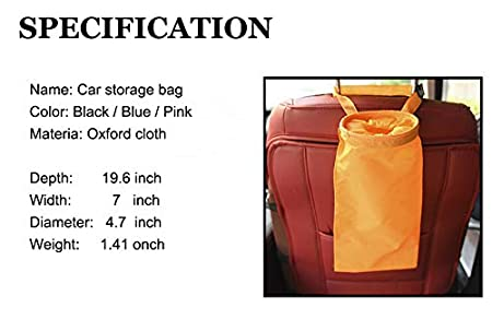 Outdoor blue Home and Vehicle Use Lesovi Car Trash Bags,Car Garbage Bag,Car Vehicle Back Seat Headrest Litter Trash Garbage Bag Can and Auto Waste Holder and Organizer for Travelling