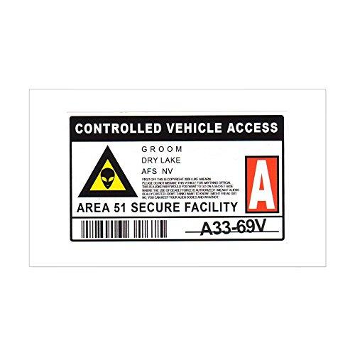 Area 51 Design (CafePress - Area 51 Controlled Parking Pa Sticker (Rectangle) - Rectangle Bumper Sticker Car)