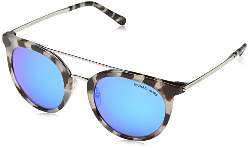 Michael Kors Women's Ila 0MK2056 50mm Snow Leopard/Cobalt Mirror One Size