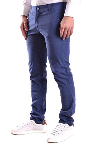 Daniele Alessandrini Homme PJ9001L550363133 Bleu Coton Pantalon