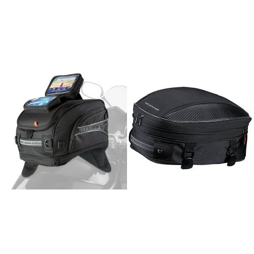 Nelson-Rigg CL-2020-MG Magnetic Mount Tank Bag and  CL-1060-S Black Sport Tail/Seat Pack Bundle