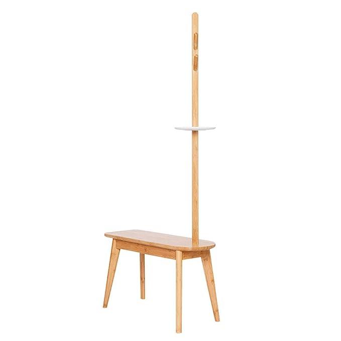 Percheros Chunlan Vertical, Bambú, Estante multifunción ...