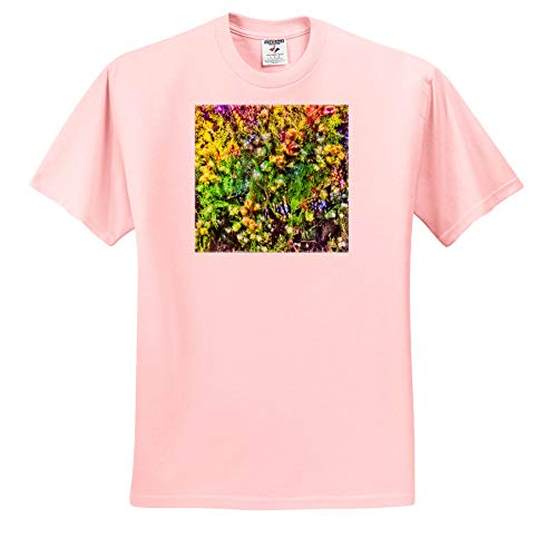 BlakCircleGirl - Plants - Dreamy Juniper - Pretty Dreamy Juniper Bushes with a Ladybug Hiding in Them. - T-Shirts - Adult Light-Pink-T-Shirt 4XL (ts_306239_40)