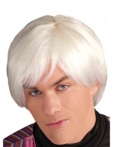 Forum Novelties Men's Andy Warhol Pop Artist Costume Wig, Platinum, One Size -