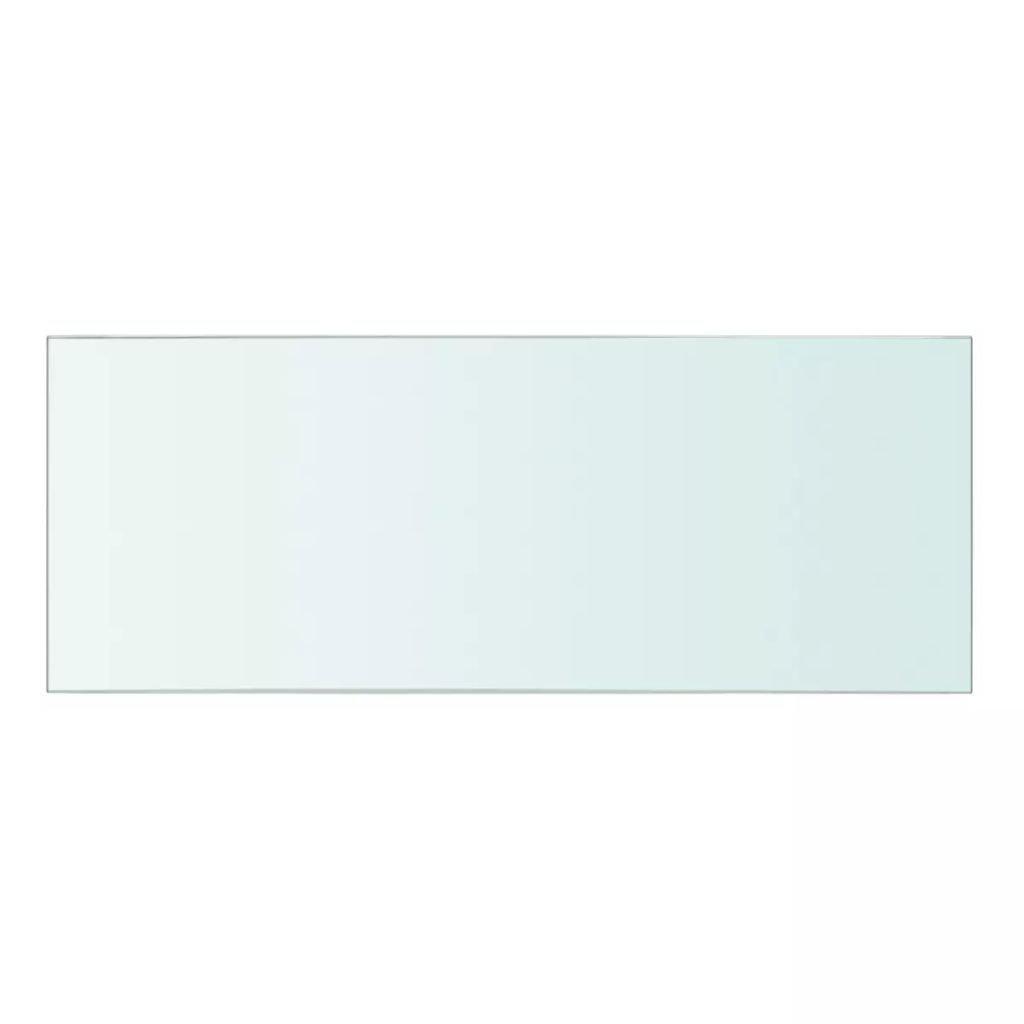 Tidyard Panel de Estante Vidrio Claro con una Capacidad de Carga de hasta 15 kg 100x30 cm