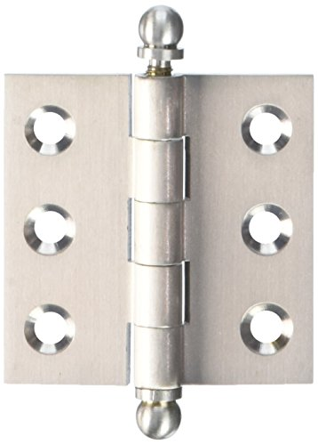 Deltana CH2020U15 Solid Brass 2-Inch x 2-Inch Cabinet Hinge with Ball - 2in Hinge Ball
