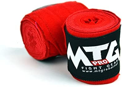 MTG Pro Mano Vendas elásticas, 2,50 m – Vendas de Boxeo (, Vendas, wickelb andagen Cajas Muay Thai, Rojo: Amazon.es: Deportes y aire libre
