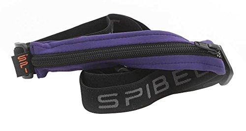 SPIbelt Running Belt: Original - No-Bounce Running Belt for Runners, Athletes and Adventurers (Purple with Black Zipper, 24 Through 47)
