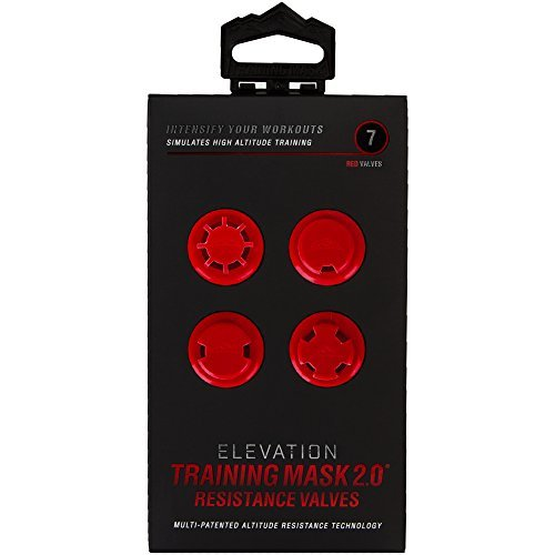 Elevation Training Mask 2.0 Resistance Caps and Valves - Red