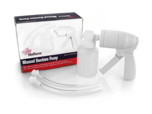 Manual Suction Pump, White, Non Sterile by MEDSOURCE