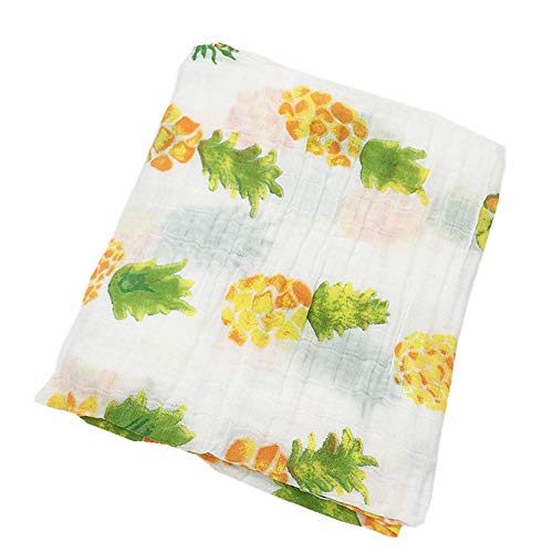 (Organic Bamboo Cotton Muslins Swaddle Blankets 47