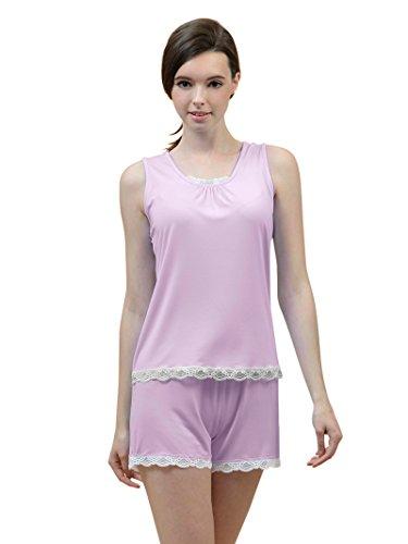 Vestaglie Notte Donna da Notte Camicie Lilla Pigiami Kimono da SIORO Pigiama Set Corto Sexy e q41wnFOS