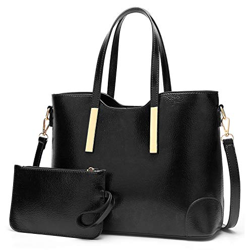 Black Satchel Tote - YNIQUE Satchel Purses and Handbags for Women Shoulder Tote Bags Wallets