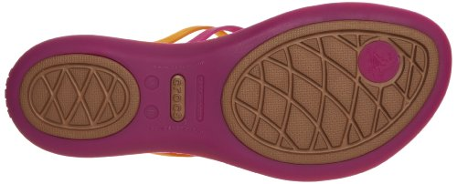 quality free shipping for sale Crocs Women's Huarache Flip flop Pink (Fuchsia/Bronze) with paypal online buy cheap official outlet for cheap cq6ero