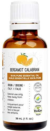 Bergamot Essential Oil (Calabrian) 30 ml (1 fl. Oz.) - GCMS Tested, 100% Pure and Undiluted