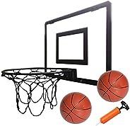 Play Platoon Mini Basketball Hoop for Door - 16 x 12 Inch Bedroom Basketball Hoop Indoors Set, Black