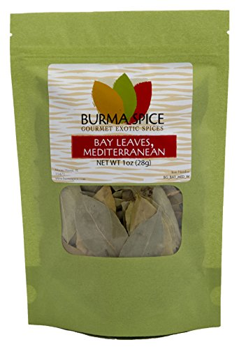 Mediterranean Bay Leaves : Laurel Leaf : Dried Herb Kosher 1oz. by Burma Spice (Image #2)