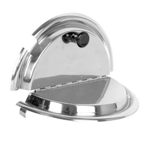 Excellante 9.8-Inch Stainless Steel Divided Cover, 7-Quart
