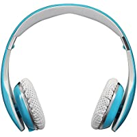 Buy AUSDOM M07 Foldable Stereo Wireless Bluetooth Headphone Headset with Mic for TV iPhone Samsung (Blue) cheapest