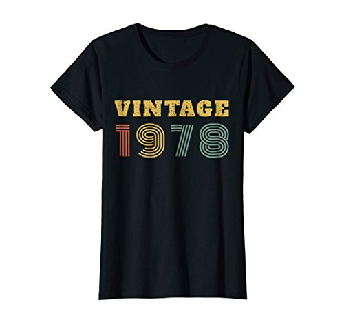 Womens 40th Birthday Gift Vintage 1978 Year T-Shirt