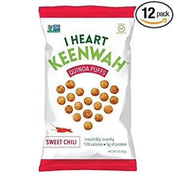 I Heart Keenwah Quinoa Puffs, Sweet Chili, 3oz, Vegan, Gluten-Free (Pack of 12) by I Heart Keenwah (Image #3)