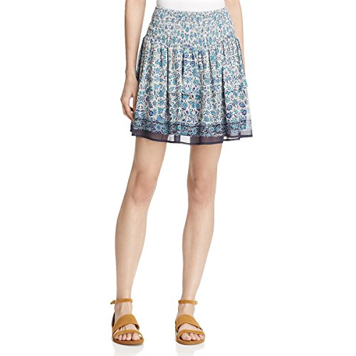 Sophie Short Wrap - Beltaine Womens Sophie Chiffon Smocked A-Line Skirt Navy XS