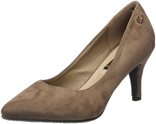 Bout Escarpins Fermé Zapato Xti Femme SRA Beige Antelina Taupe Taupe Xvfa7f
