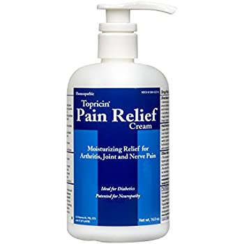 Topricin Pain Relief Therapy Cream ( 16 oz ) for Arthritis, Back Pain, Fibromyalgia, Sciatica, Plantar Fasciitis, Sore Muscles & Joints, Carpal Tunnel & Chronic Pain