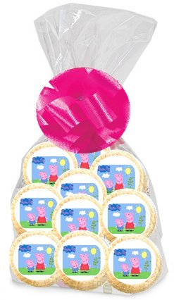 24pack Peppa The Pig Party Favor Gift Decorated Sugar Cookies