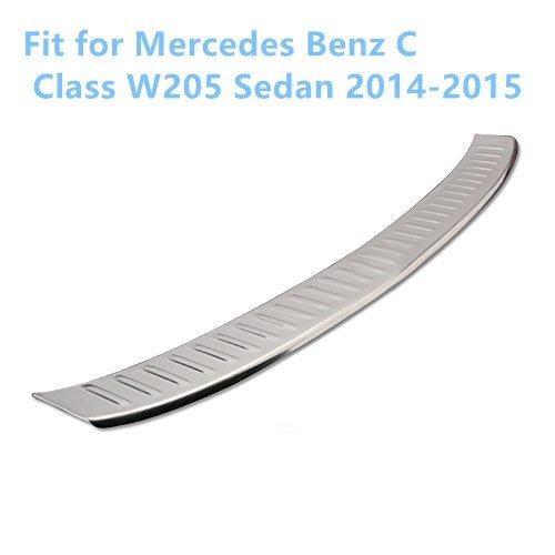 per W205 Classe C Berlina 2014 2015 Acciaio inossidabile Sill piastra di copertura paraurti posteriore esterno 1PCS YUZHONGTIAN Auto Trims Co. Ltd
