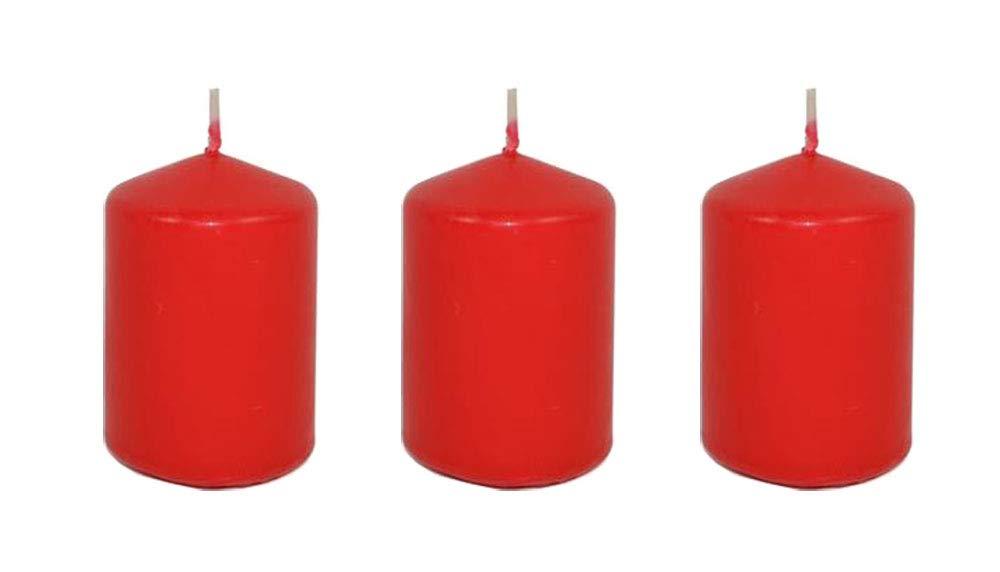 Vetrineinrete® Set 3 Candele Rosse Decorazioni Natalizie Candela Rossa Decorativa addobbi per la casa per Corona dell'avvento Natale Fai da Te A52 vetrine in rete