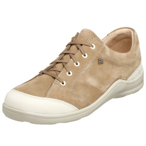 Finn Comfort Donne Cusco Sneaker Allacciata Okapi / Nubuk Gelsomino / Pietra