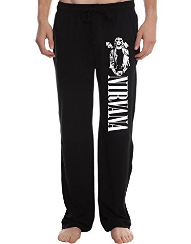 XINGJX Men's nirvana band sunglasses poster Running Workout Sweatpants Pants L ()