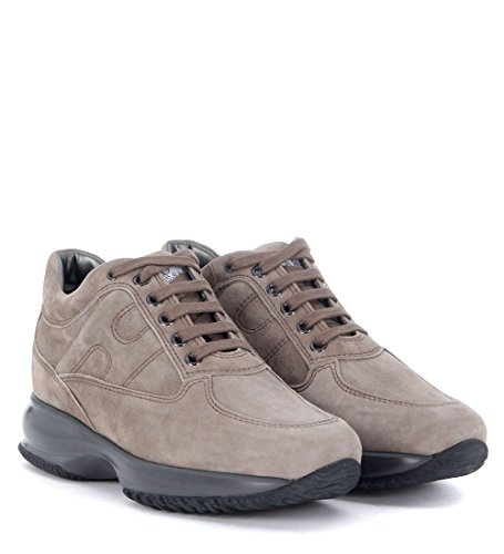 Hogan Women's Interactive Sneaker in Dove Grey Suede Grey discount manchester great sale outlet locations cheap price kEMvkgNak