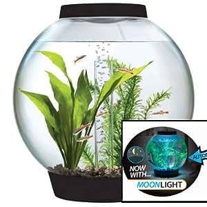 biOrb CLASSIC 15 Aquarium with Moonlight LED Light - 4 Gallon, Black